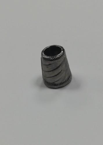 16 Концевик металлический декоративный цв.ч.никель(в упак.1000шт)