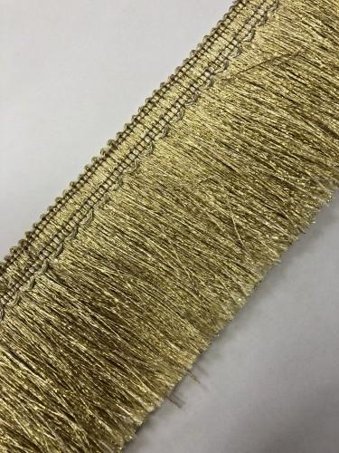 Бахрома металлизированная 7см цв.золотой(в упак.50м)