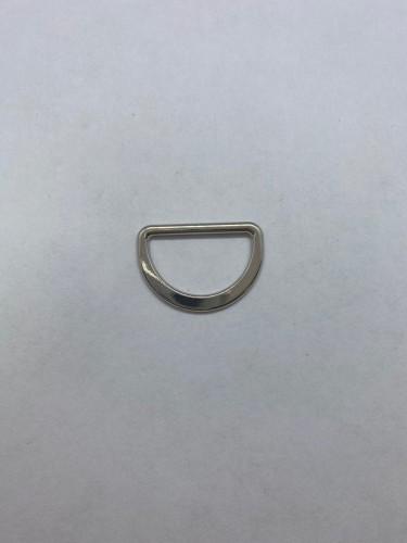 1668X Полукольцо литое плоское 20мм цв.никель(в упак.1000шт)