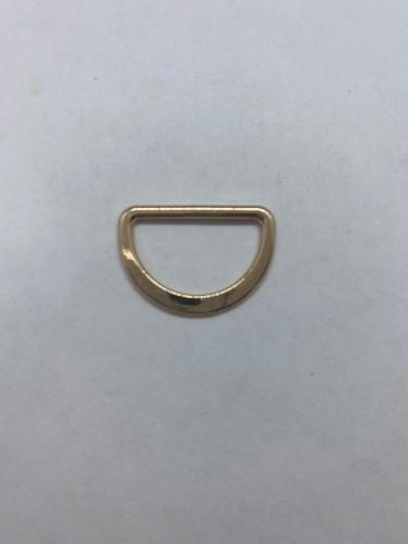 1668X Полукольцо литое плоское 20мм цв.золото(в упак.500шт)