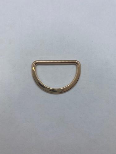 1669X Полукольцо литое плоское 25мм цв.золото(в упак.500шт)