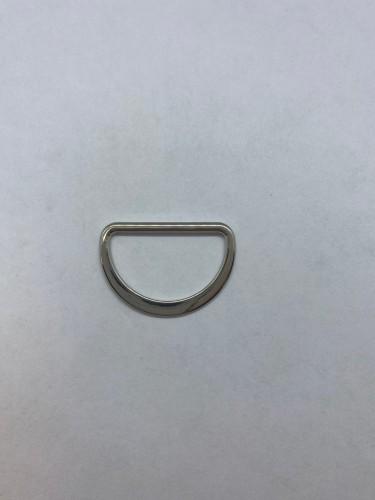 1669X Полукольцо литое плоское 25мм цв.никель(в упак.500шт)