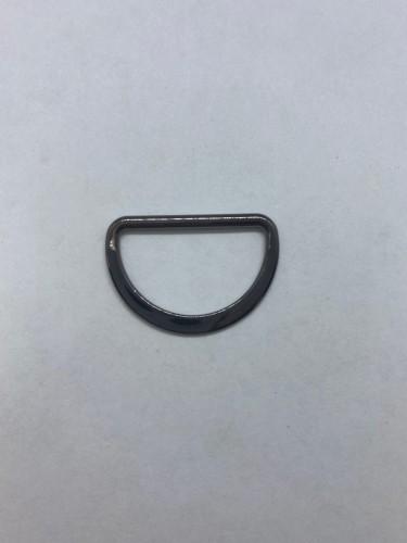 1669X Полукольцо литое плоское 25мм цв.ч.никель(в упак.500шт)
