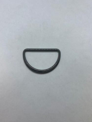 1671X Полукольцо литое плоское 35мм цв.ч.никель(в упак.200шт)
