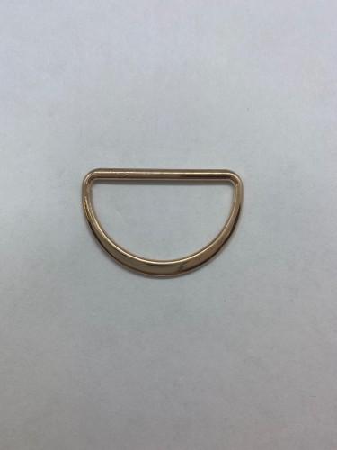 1671X Полукольцо литое плоское 35мм цв.золото(в упак.500шт)