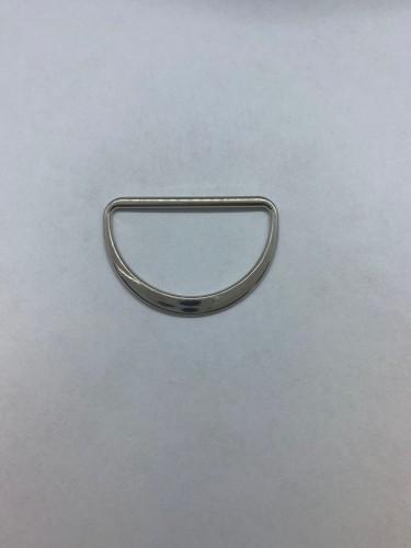1672X Полукольцо литое плоское 40мм цв.никель(в упак.500шт)