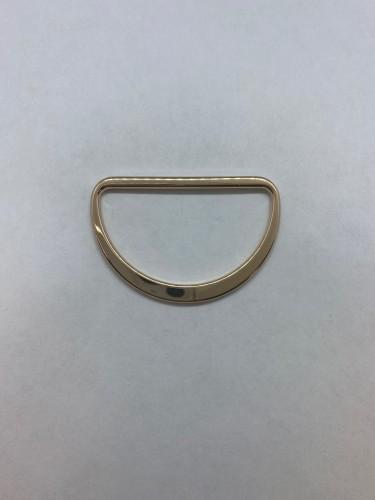 1673X Полукольцо литое плоское 45мм цв.золото(в упак.200шт)