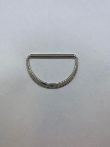1673X Полукольцо литое плоское 45мм цв.никель(в упак.200шт)