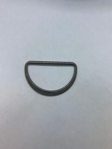1673X Полукольцо литое плоское 45мм цв.ч.никель(в упак.200шт)