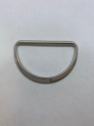 1674X Полукольцо литое плоское 50мм цв.никель(в упак.200шт)