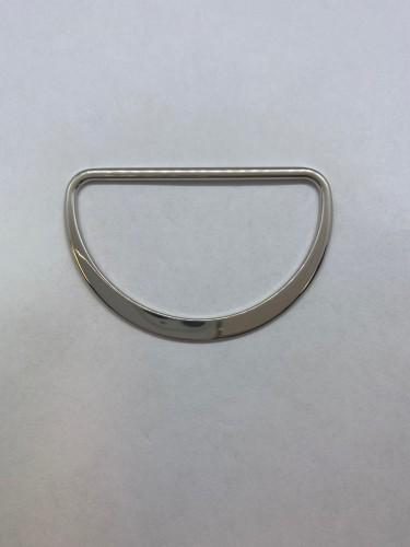 3119 Полукольцо литое плоское 60мм цв.никель(в упак.100шт)