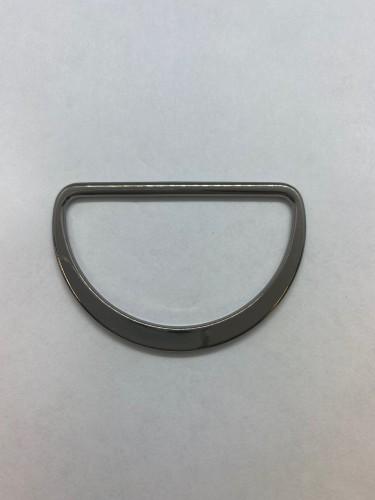 10752 Полукольцо литое плоское 55мм цв.ч.никель(в упак.100шт)