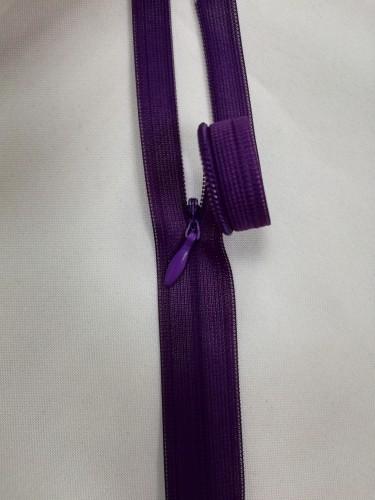 0867 Молния потайная Т3 25см цв.т.фиолетовый(в упак.50шт)