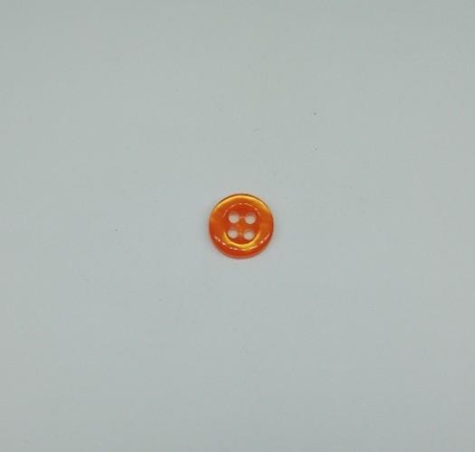 4014 Пуговица сорочечная №16 10мм цв.8348 оранжевый(в упак.1000шт)