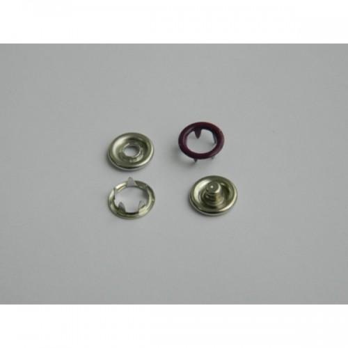 170 Кнопка нержавеющая трикотажная кольцевая 09,5мм цв.фиолетовый(в упак.1440шт)