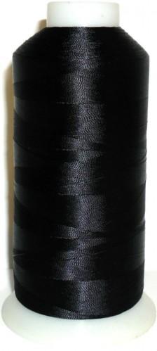 Черная нить 120D/2 вышивальная 100% ПЭ 4500yds