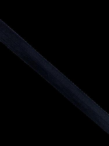 0450KTP Бельевая резинка окантовочная блестящая 15мм цв.черный(в рул.100м)