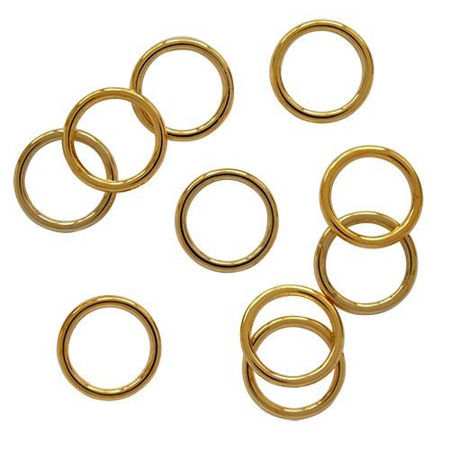 Бельевое кольцо регулировочное металлическое 15мм цв.золото(в упак.1000шт)