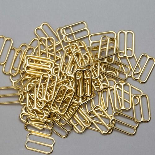 Бельевая рамка регулировочная металлическая 15мм цв.золото(в упак.1000шт)