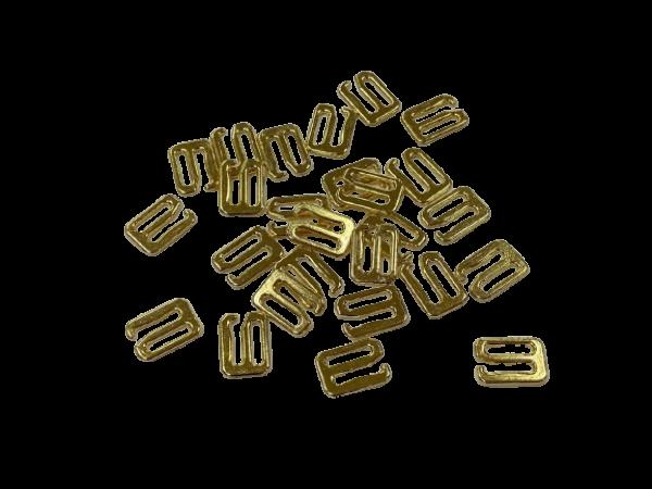 Бельевой крючок металлический 0,6мм цв.золото(в упак.1000шт)