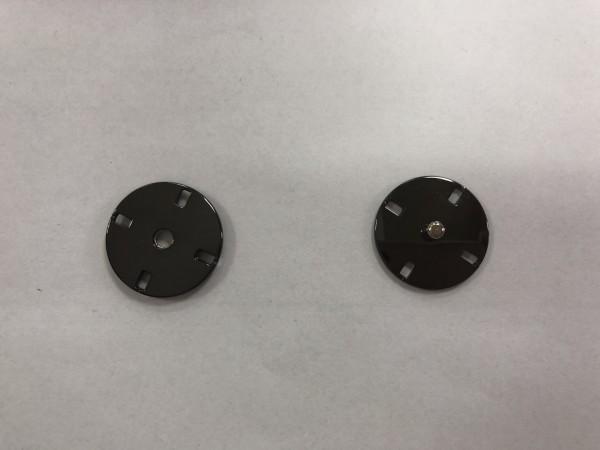 Кнопка пришивная литая 21мм 4-дырочная цв.ч.никель(в упак.50шт)