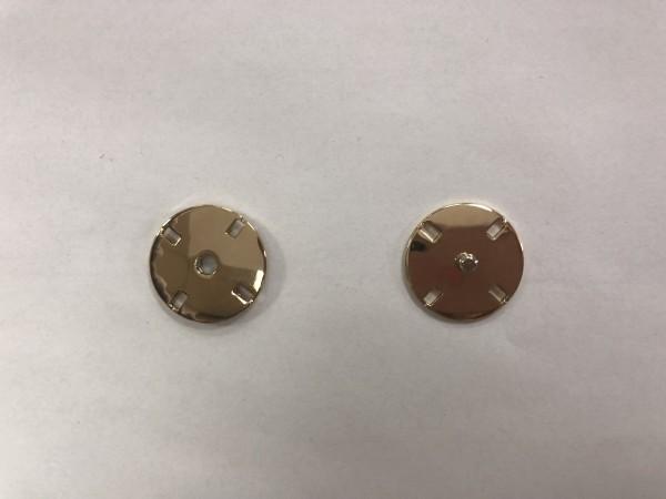 Кнопка пришивная литая 21мм 4-дырочная цв.золото(в упак.50шт)