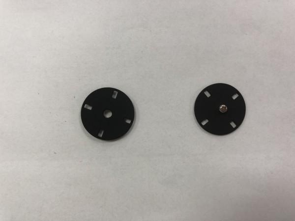 Кнопка пришивная литая 21мм 4-дырочная цв.матовый черный(в упак.50шт)