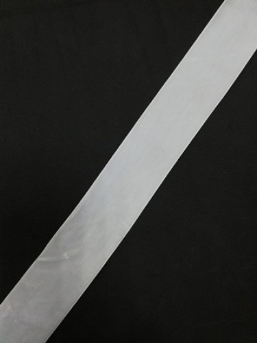 Бархатная лента 38мм цв.белый(в рул.50м)