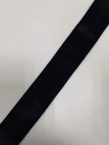 Бархатная лента 38мм цв.черный(в рул.50м)