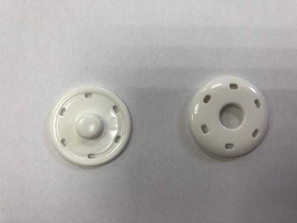 7934В Кнопка пришивная пластиковая №54 34мм цв.белый(в упак.2000шт)