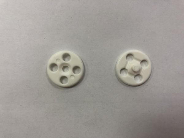 4221В Кнопка пришивная пластиковая №24 15мм цв.белый(в упак.1000шт)