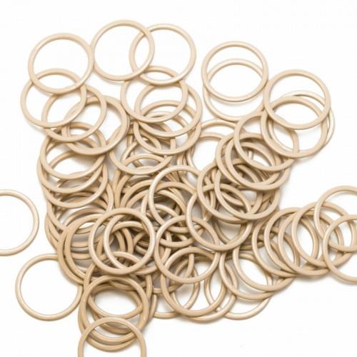 Бельевое кольцо регулировочное металлическое 20мм цв.бежевый(в упак.1000шт)
