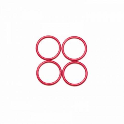 Бельевое кольцо регулировочное металлическое 18мм цв.красный(в упак.2000шт)
