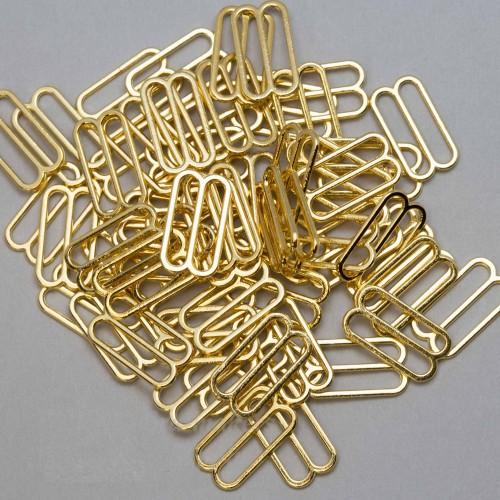 Бельевая рамка регулировочная металлическая 18мм цв.золото(в упак.1000шт)