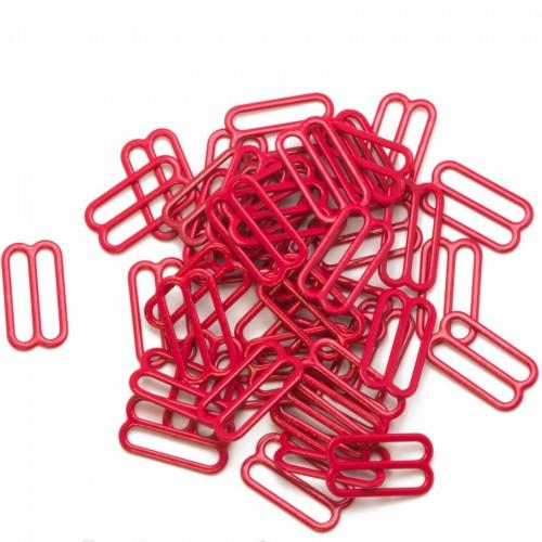 Бельевая рамка регулировочная металлическая 18мм цв.красный(в упак.2000шт)