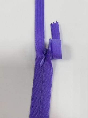 252С Молния потайная Т3 20см цв.фиолетовый(в упак.100шт) Китай