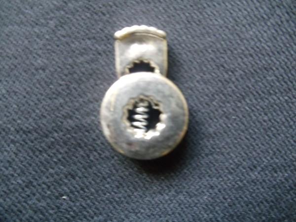 1160TR Фиксатор шар металлизированный пластиковый цв.никель(в упак.500шт)