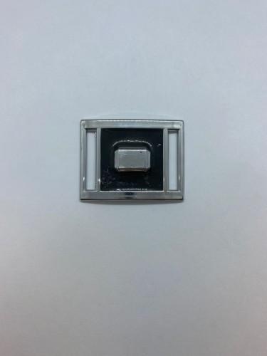 149ТКА Пряжка металлическая 2,5см цв.никель(в упак.500шт)