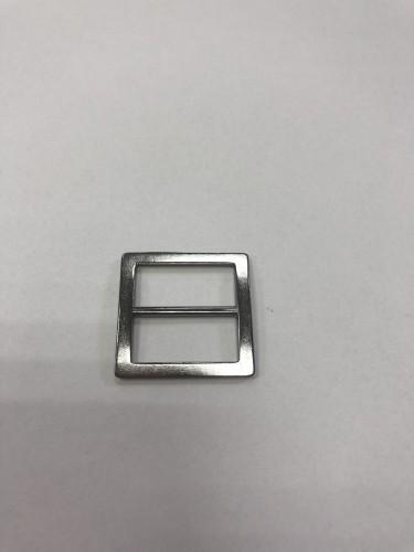 054АА Пряжка-рамка металлическая 2см цв.ч.никель(в упак.100шт)
