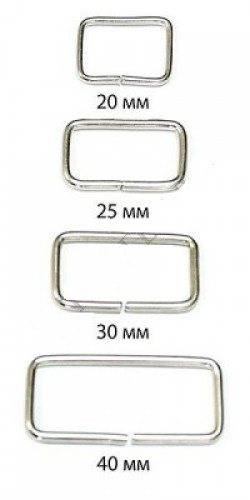 Рамка 2,5*20*30мм цв.никель(в упак.1000шт)