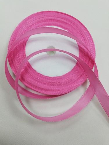134 Атласная лента 12мм цв.розовый(в рул.33м)