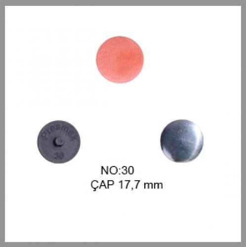 Заготовка для обтяжки пуговиц на пластиковой ножке №30 19мм цв.черный(в упак.500шт)