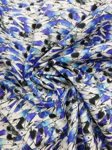 90200 Ткань хлопок сатин с принтом 97%хлопок 3%эластан 150см(в рул.100м)