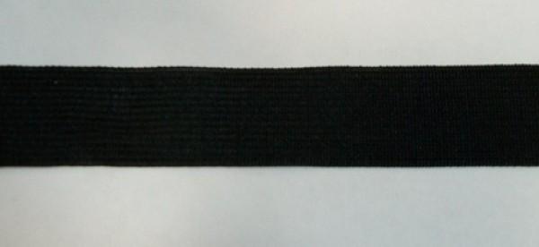 322 Окантовочная лента 24мм цв.черный(в рул.100м)