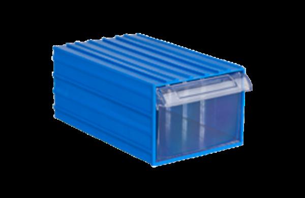Ящик 510 25*14*34см большой цв.синий(в упак.6ящика)