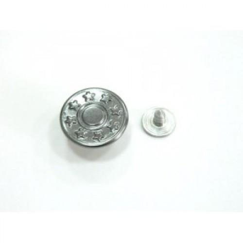 Джинсовые пуговицы 17мм со звездами цв.ч.никель(в упак.1000шт)