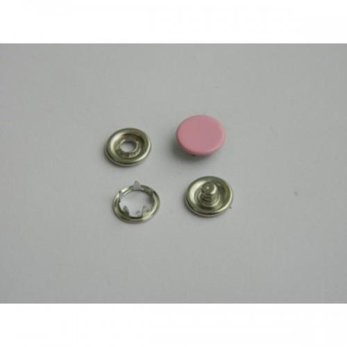 137 Кнопка нержавеющая трикотажная закрытая 09,5мм цв.розовый(в упак.1440шт)