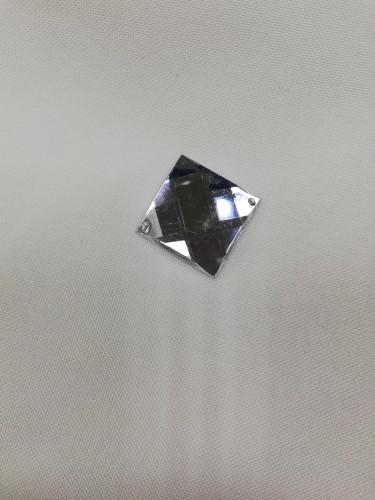 1842 Стразы кристальные пришивные 20*20мм Black(в упак.288шт)