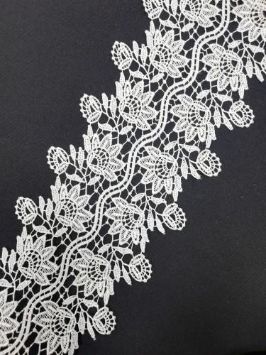 0060S Кружево вязаное полиэстер цв.белый(в упак.9м)