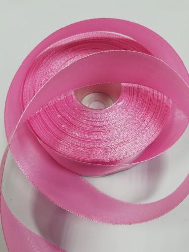 134 Атласная лента 25мм цв.св.розовый(в рул.33м)
